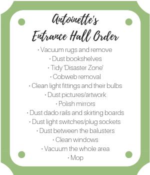 entrance hall order